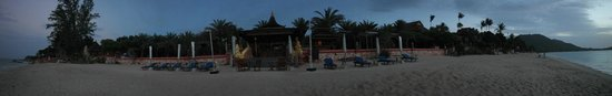 Ammatara Pura Pool Villa : View of the hotel from the beach