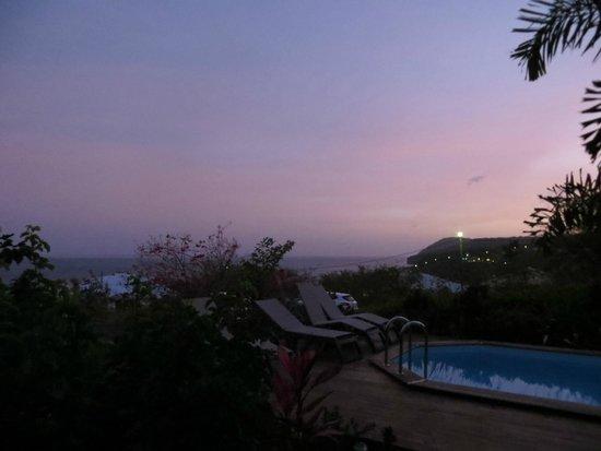 Couleurs Creoles: Lever de soleil depuis la terrasse du gite