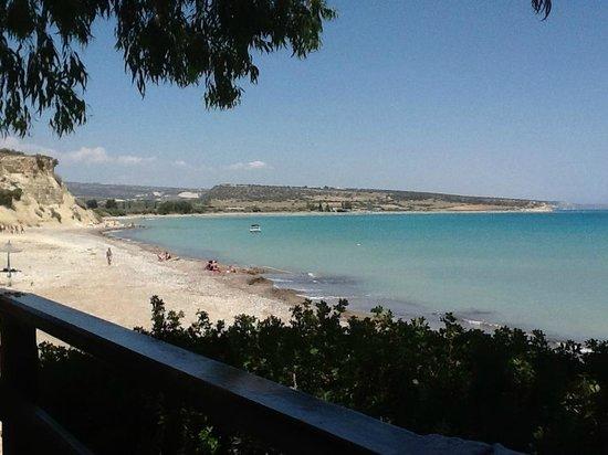 Melanda Beach Restaurant : View from the terrace restaurant