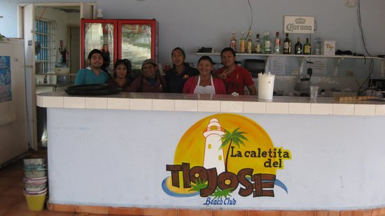 Tio Jose: Staff from the Best Restaurant in Cozumel