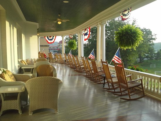 French Lick Springs Hotel: Veranda of hotel