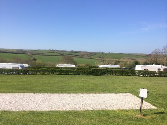 Cornish Coasts Caravan and Camping Park: View from the caravan we stayed in