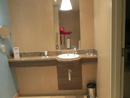 Peermont Metcourt Hotel at Emperors Palace : salle de bain avec lavabo et coin douche
