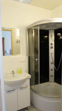 Kamienica Bankowa Residence: Tandetna kabina prysznicowa