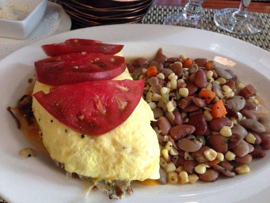 Halls Chophouse: Short ribs omelette with succotash… NOM NOM NOM