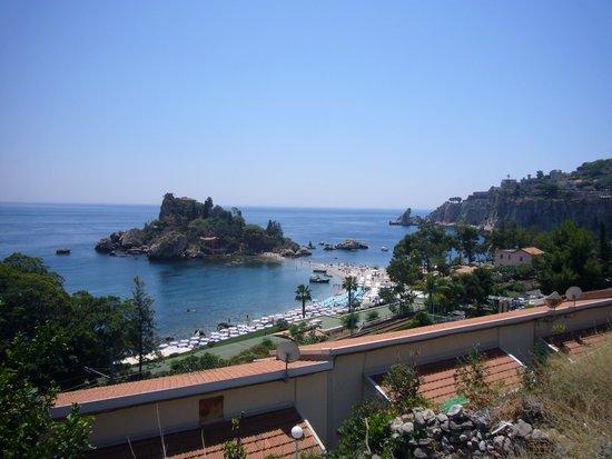 Hotel Eden Riviera: uitzicht vanuit onze kamer