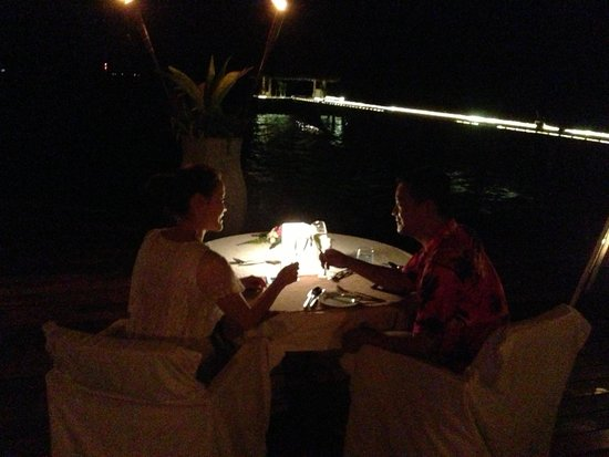 Complimentary candle light dinner from Maafushivaru