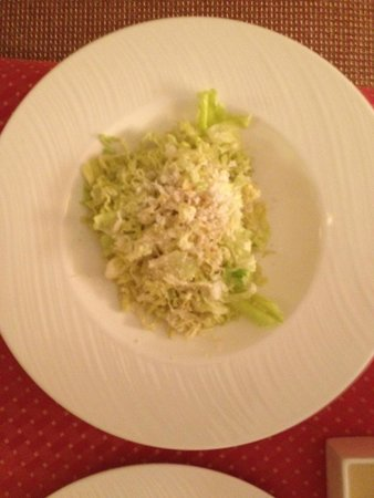 Four Seasons Resort and Residences Vail: In room dining-Ceasar Salad, shredded wilted lettuce