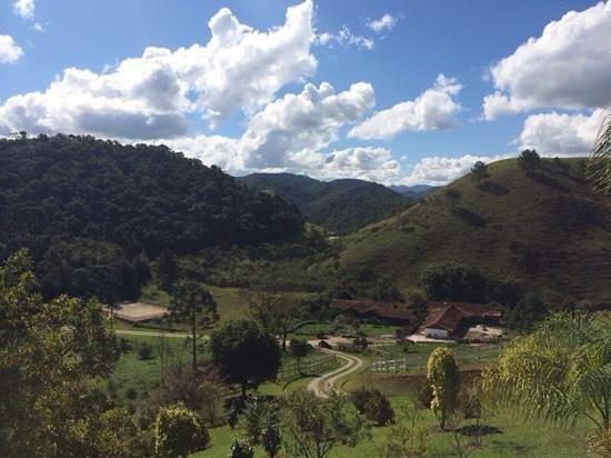 Maua Brasil: Vista da varanda do restaurante.