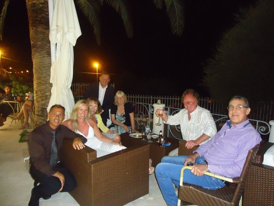 Hotel Ristorante Brancamaria: With our new friends and lovely staff