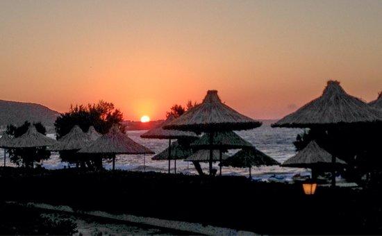 Alexander Beach Hotel & Village: Sunset on the hotel beach