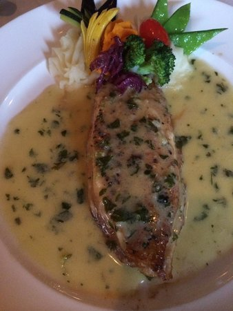 Restaurant Bouchard : Dover Sole in butter lemon sorrel sauce. Perfection.