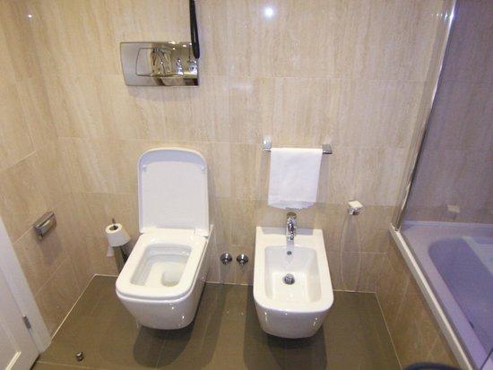 Hotel Artemide: Rectangular toilet?
