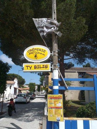 Crêperie TY BILIG : panneau de rue