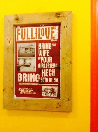 Mojo Burgers: inside the cafe , you gotta love it
