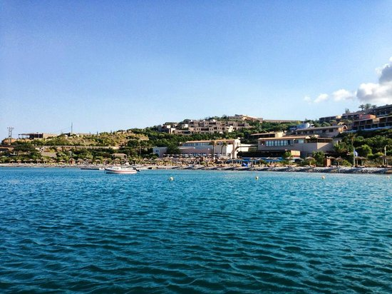 Blue Palace, a Luxury Collection Resort & Spa, Crete : view of the resort from the boat headed to Spinalonga