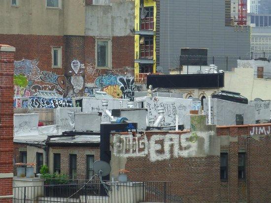 Comfort Inn Lower East Side: la terrasse de l'hôtel où personne ne va !