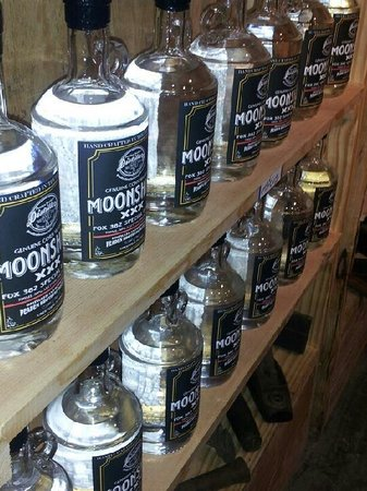 Peaden Brothers Distillery: They have a lot of moonshine on the shelf