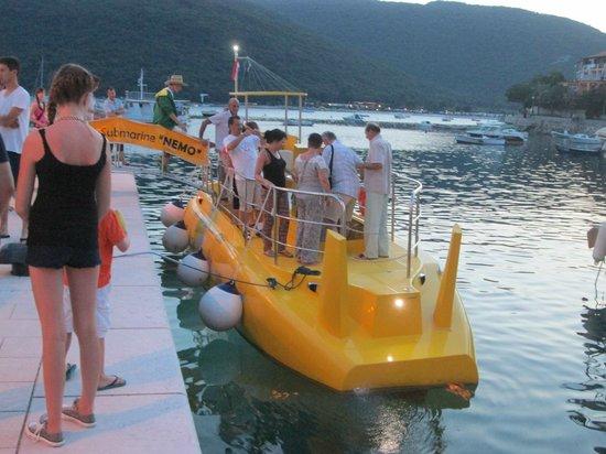 Hotel Amfora: glass bottom boat