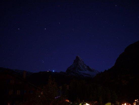Matterhorn with stars