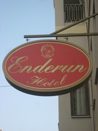Enderun Hotel Istanbul: the sign of the hotel
