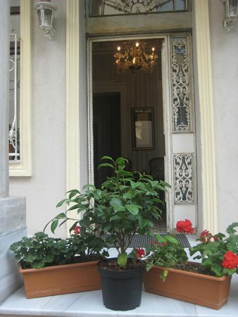 Enderun Hotel Istanbul: an entrance of the hotel