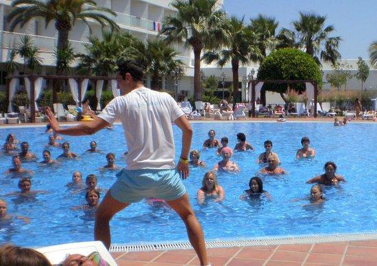 Club Marmara Marbella: lecon d'aquagym 2 fois par jours