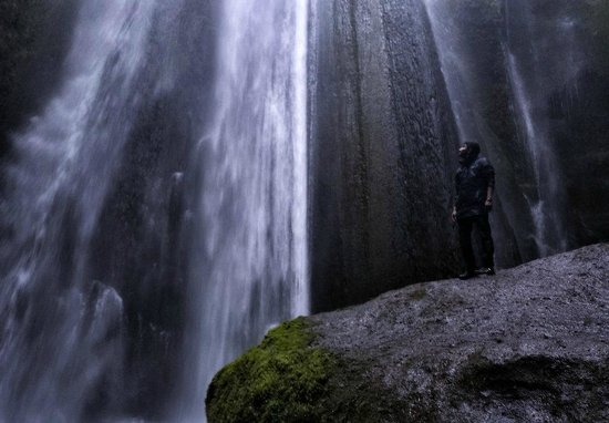 Discover Iceland: This one was really interesting waterfall inside the mountains