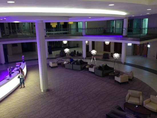 Hilton at St George's Park, Burton upon Trent: Looking down to the lobby area
