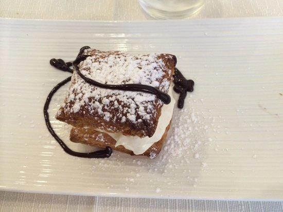 Osteria Del Gallo e Della Volpe: Millefoglie con crema