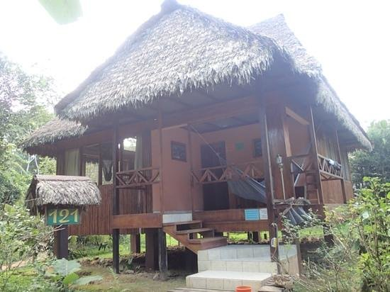 Tambopata Ecolodge: outside porch with hammock