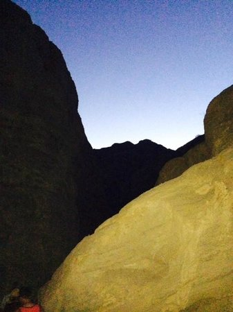 Desert Adventures Red Jeep Tours: San Andreas Fault at dusk
