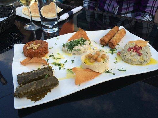 Restaurant Bleu: Plateau dentrées