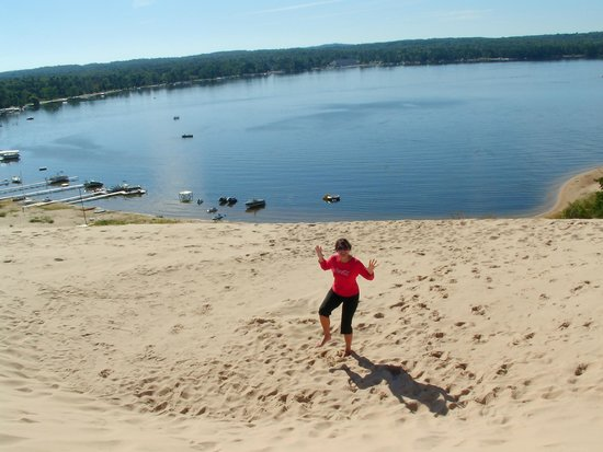 Silver Lake Sand Dunes: Before the climb