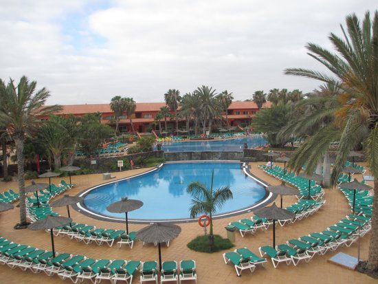 Oasis Village: view of both pools