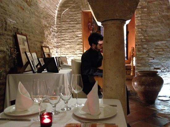 San Marco : Ingang restaurant met gitarist