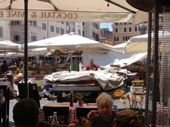 View from our table @ Mercato Hostaria