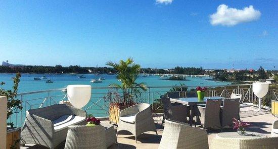 Le Lagon Hotel Restaurant: terrasse restaurent vue