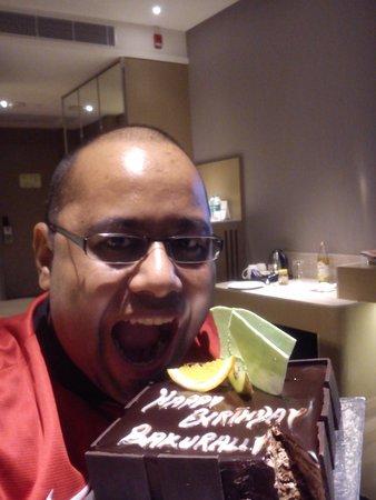 Holiday Inn New Delhi International Airport: celebrating birthday @ holiday inn