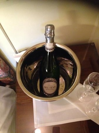 Toft Country House Hotel And Golf Club: we made short work of this bottle of bubbly.