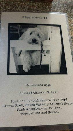 Cody's : The doggie menu