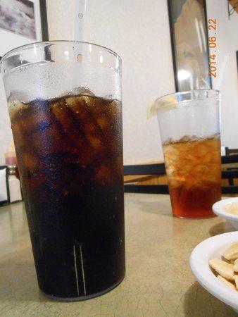 Skyline Chili: Large drinks