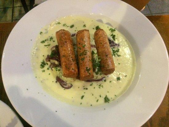 Potters Bar and Kitchen: Veggie Bangers