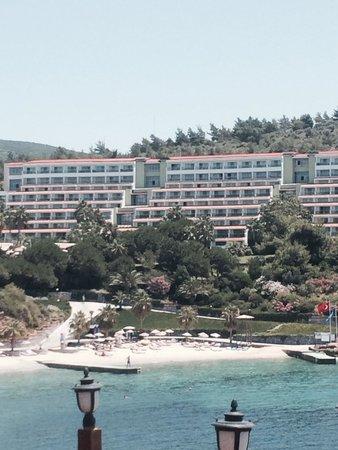 Pine Bay Holiday Resort: Plage et partie hotel