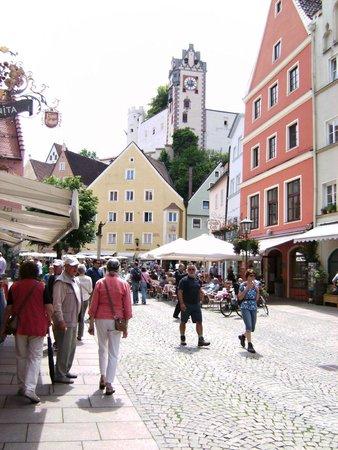 Altstadt von Fuessen: Altstadt von Füssen am Lech-1-