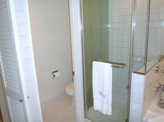Halekulani Hotel: shower & toilet
