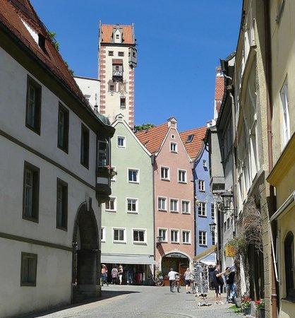 Altstadt von Fuessen: Altstadt von Füssen am Lech-3-