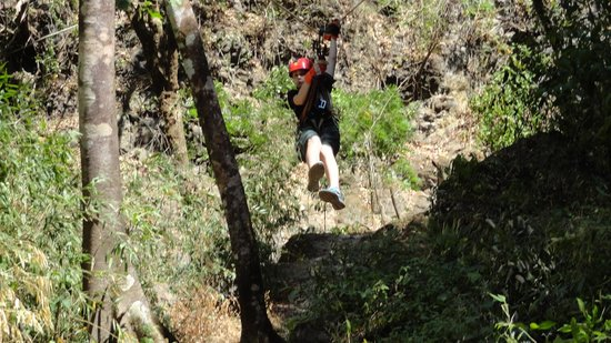 Adventure Park and Hotel Vista Golfo: Coming in hot