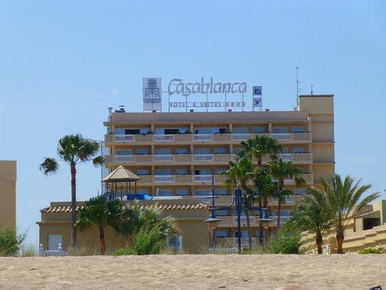Hotel RH Casablanca & Suites : Vista del hotel desde la playa