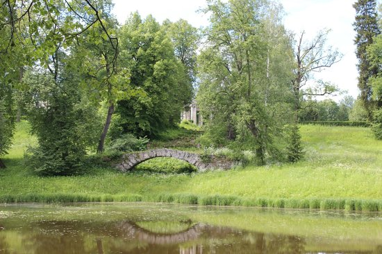Pavlovsk Palace and Park: вид на колоннаду аполлона